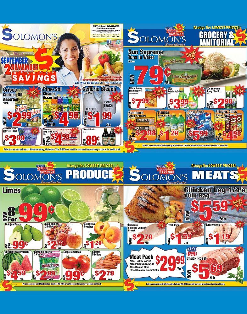 September to Remember Savings Solomon's Super Center
