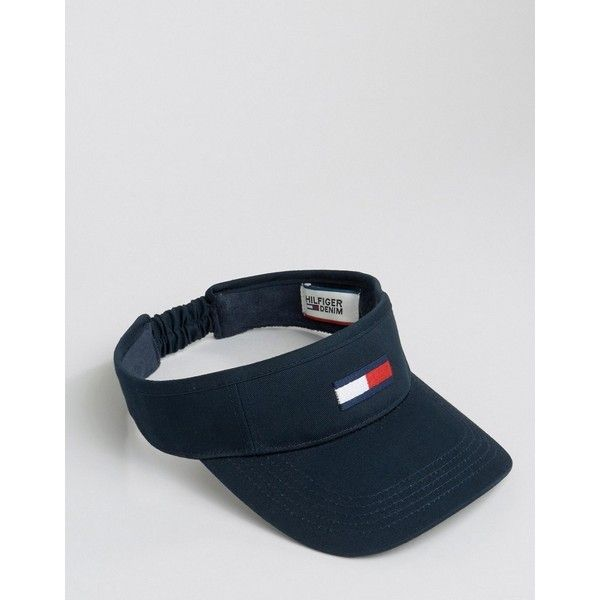 3be6ebd627d Tommy Hilfiger Exclusive Visor ( 32) ❤ liked on Polyvore featuring  accessories