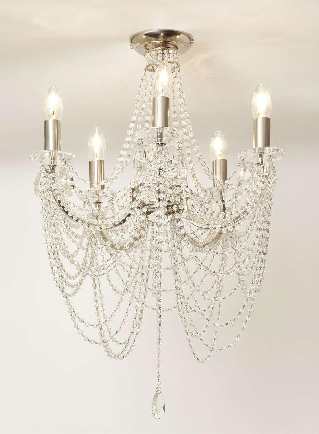 Bhs ceiling chandelier integralbook chrome flush chandelier bhs lights arubaitofo Image collections