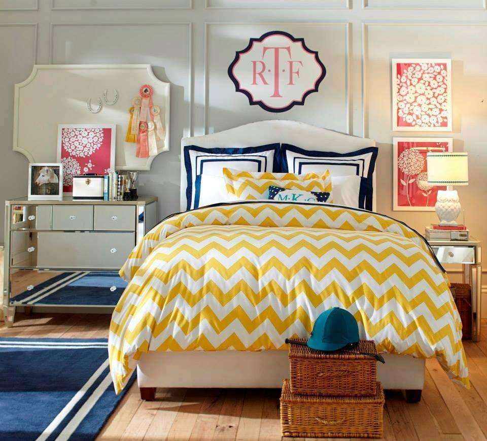 Love love love the yellow chevron | PB teen nostalgia | Pinterest ...