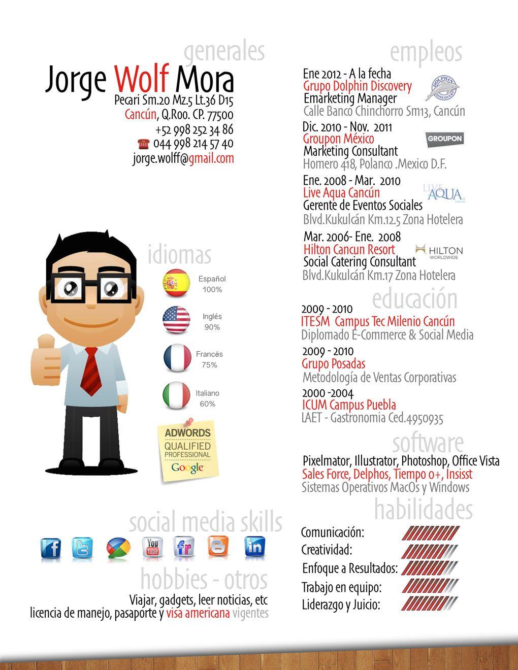 Jorge Nos Envia Su Cv Que Te Parece Curriculum Vitae Job Hunting Life Coach
