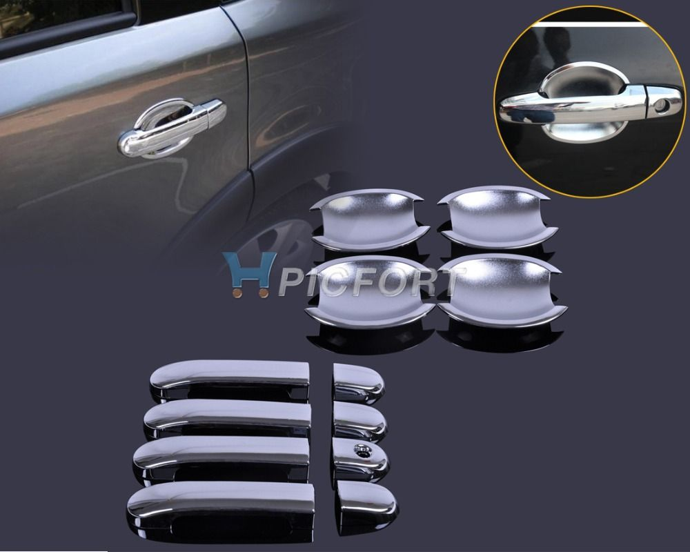 New Exterior Moldings Chrome Door Handle Cover Cup Bowl Combo For Nissan Versa Tiida Latio 2007 2008 2009 2010 Chrome Door Handles Door Handles Nissan Versa