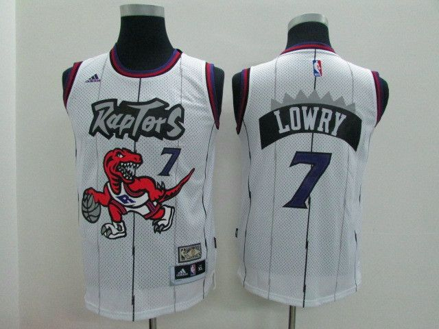 NBA Youth #7 Lowry white jersey