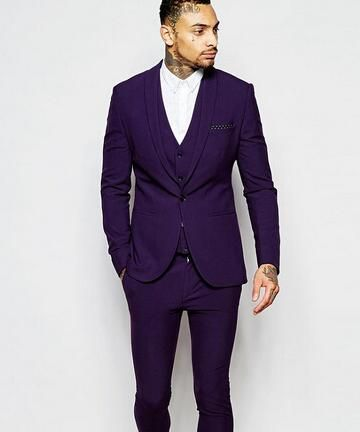 1f573b50926a Click to Buy << New Fashion Purple Mens Dinner Party Prom Suits Groom  Tuxedos Groomsmen Wedding Blazer Suits (Jacket+Pants+Vest+Tie) K:2180  #Affiliate