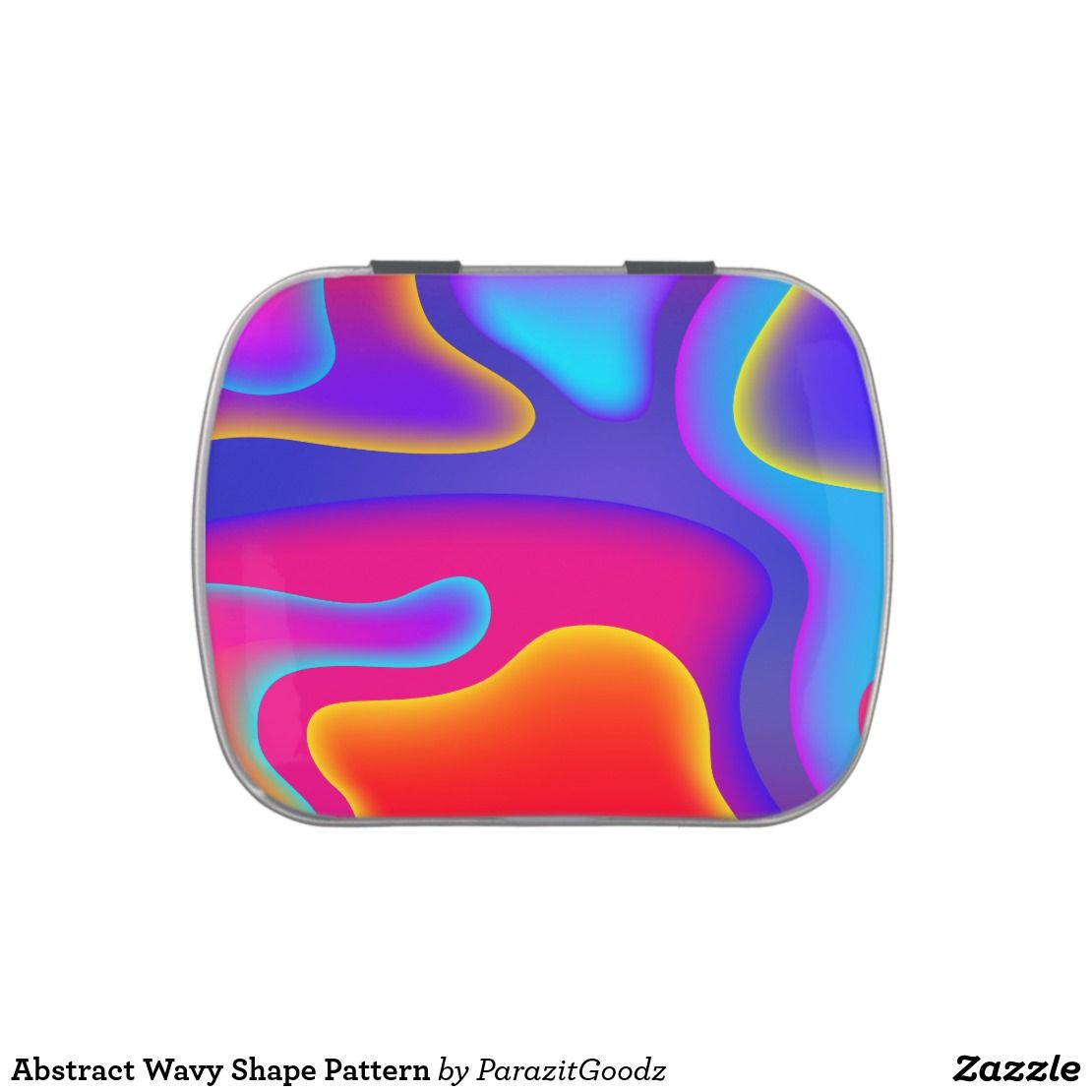 Abstract Wavy Shape Pattern Candy Tin |  Take the cool wavy shape and heat colors into your life, stay warm!