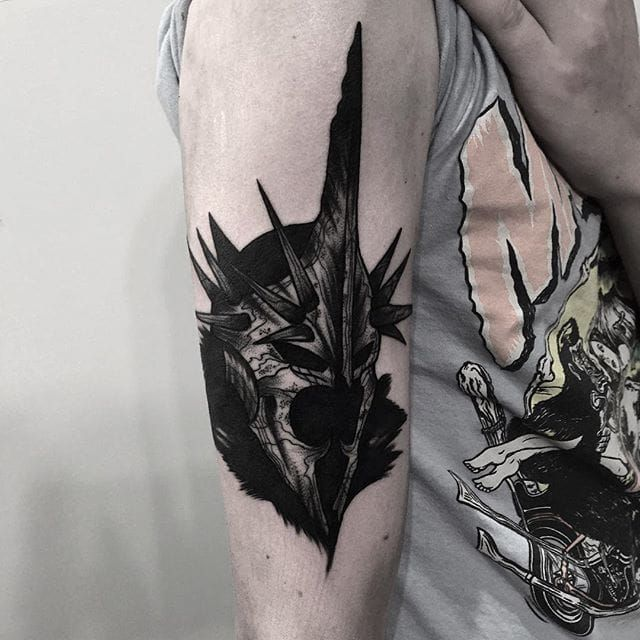 Witch King Tattoo On Guy S Chest