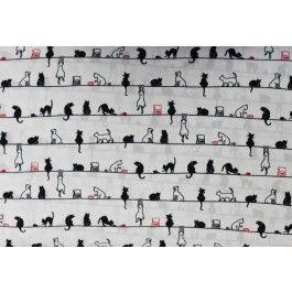 Tecido Digital Gatinhos no Varal - Ateliê Ana Cosentino