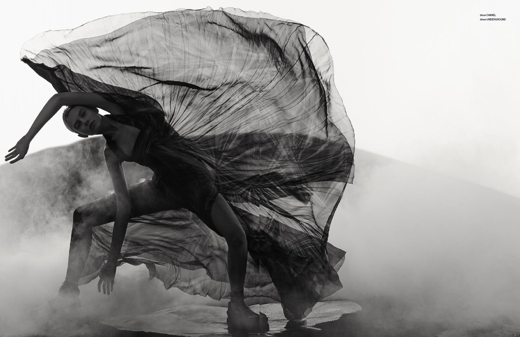 Hunger Magazine #undergroundshoes #sandal #blackandwhite #editorial #chanel #photography