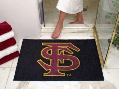 Florida State Fsu Seminoles Text All Star Welcome Bath Mat Rug