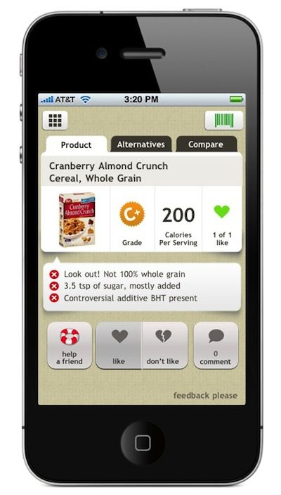 Shop Smarter: These Food Apps Grade Your Groceries #app