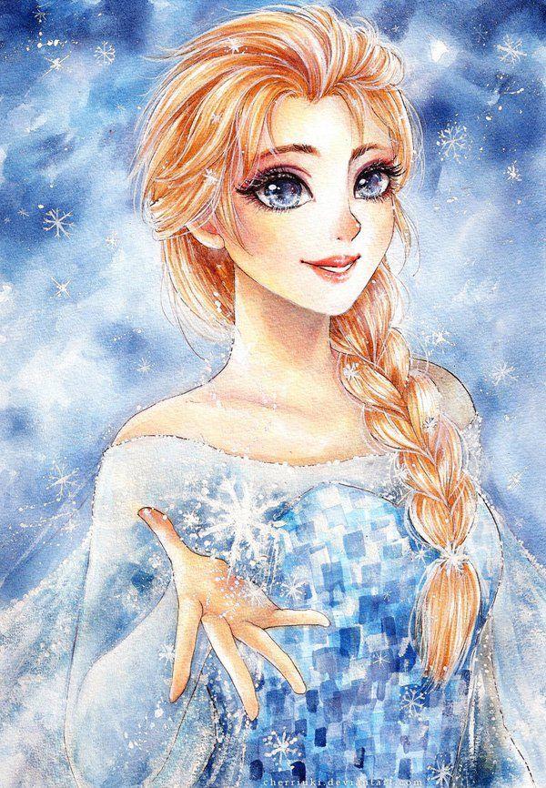 55 Beautiful Anime Drawings Disney princess art