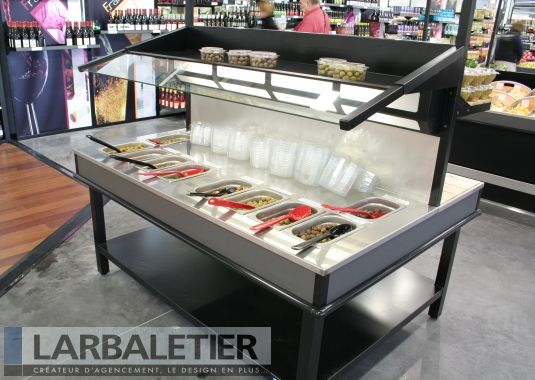 Agencement magasin alimentaire pr sentoirs pices et olives agencement magasin pinterest - Presentoir a epice ...