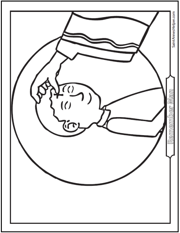 Ash Wednesday Coloring Pages Start Lent Well Pinterest Ash