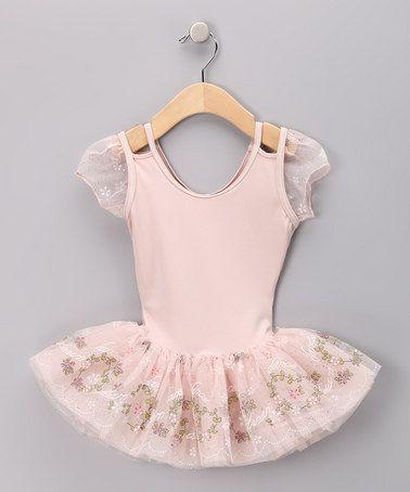 e57e6b23a Take a look at this Peach Keyhole Skirted Leotard - Toddler   Girls ...