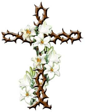 cross easter lily clip art easter wallpapers my favorates rh pinterest com easter lily border clipart