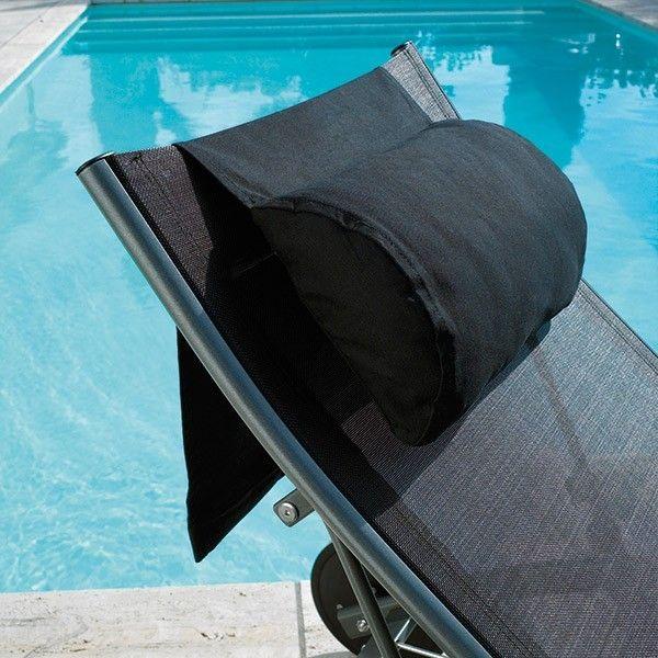 Coussin repose tête chaise longue Dhoni #bain #soleil