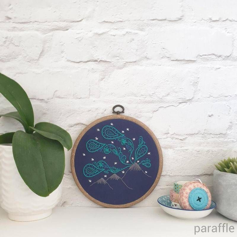 Photo of Northern Lights Embroidery Pattern