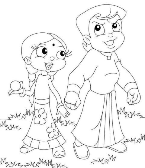 Chota Bheem Coloring Pages Projects
