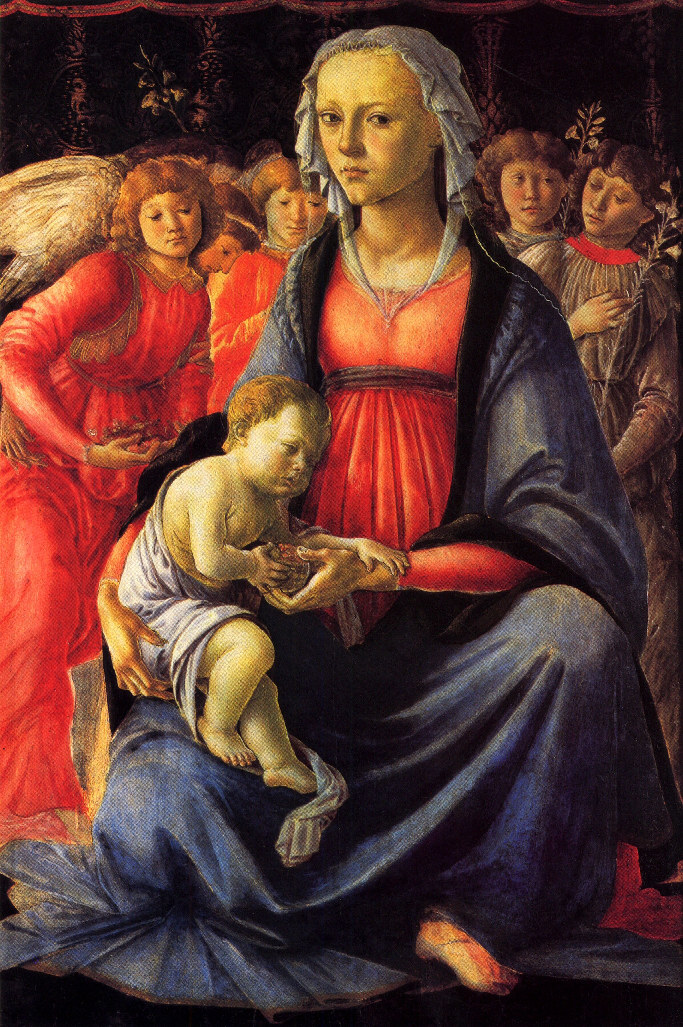 The Virgin and Child surrounded by Five Angels - Sandro Botticelli