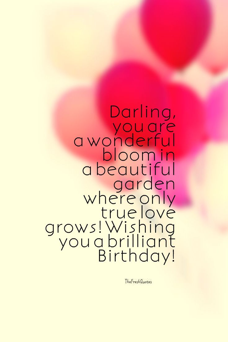 45 Cute And Romantic Birthday Wishes With Images Thefreshquotes