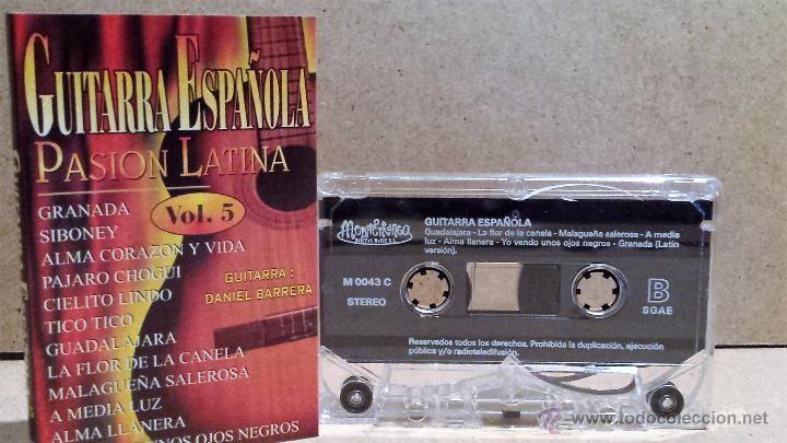 GUITARRA ESPAÑOLA. PASIÓN LATINA. VOL 5 - MC / MEDITERRANEO - 1999 / CALIDAD LUJO.