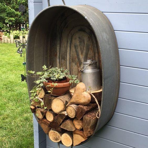 zinken teil decoratie hout