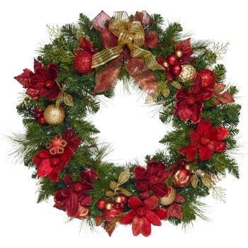 Kirkland Signature Led Pre Lit Battery Operated Wreath Christmas Wreaths Holiday Wreaths Artificial Christmas Wreaths