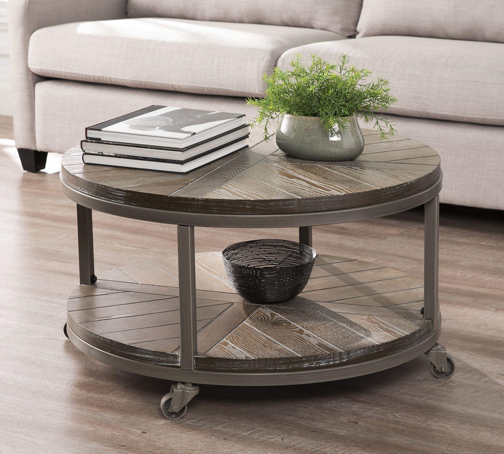 Brien Wheel Coffee Table With Storage Round Coffee Table Living Room Coffee Table Coffee Table Wood [ 1480 x 1640 Pixel ]
