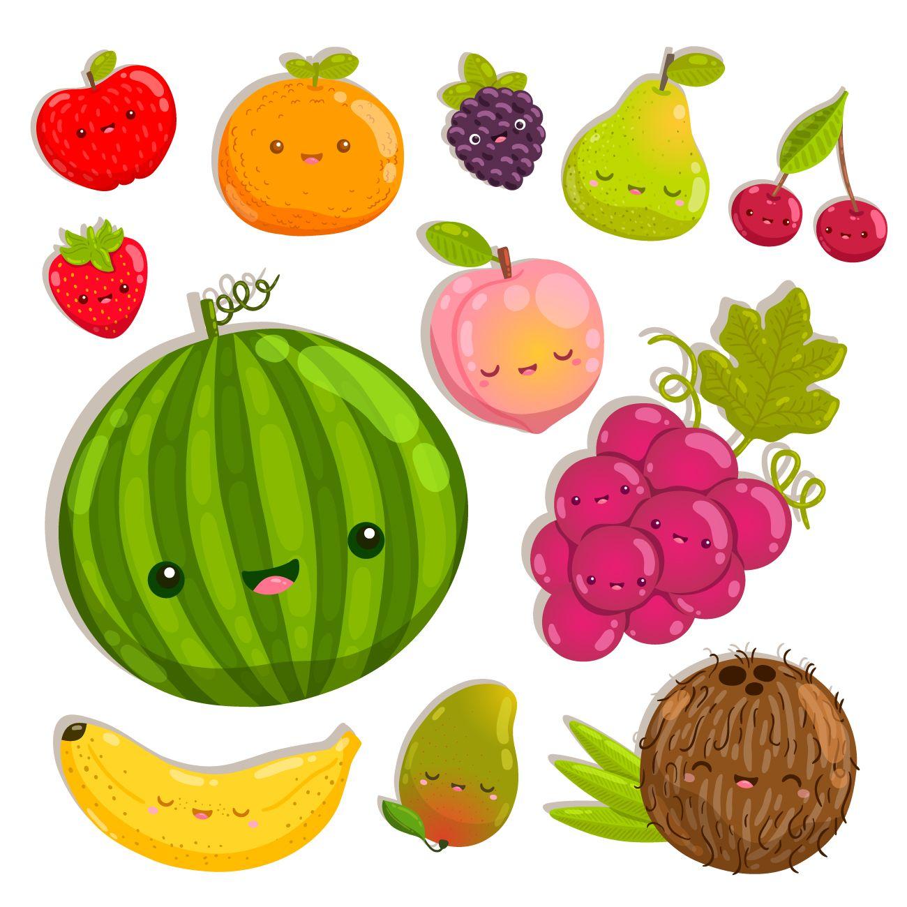 صور فاكهة Happy Fruit Kawaii Fruit Fruit