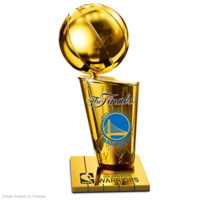 Handcrafted Tribute Inspired By Larry O Brien Nba Championship Trophy With Official Logos Finals Scores And Golde 2017 Nba Finals Nba Finals Champions Trophy