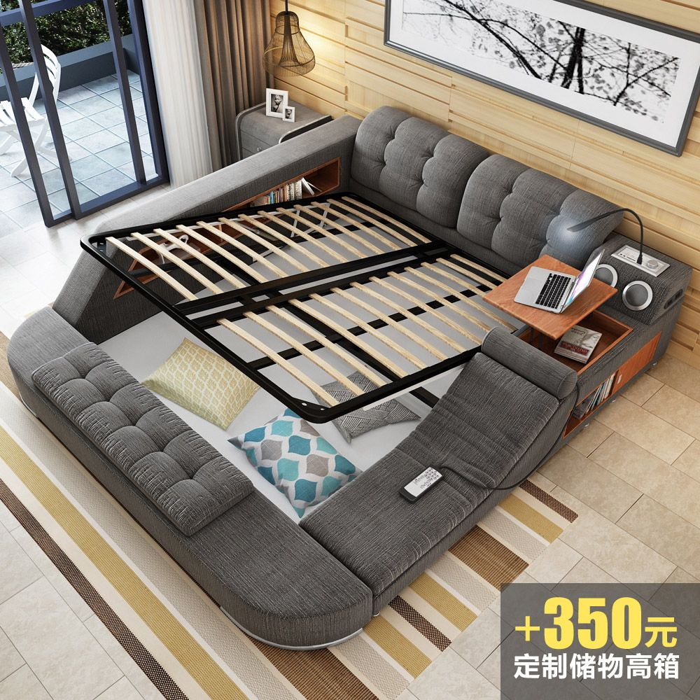 Design Betten G C3 Bcnstig Furniture Design For Your Home Usd 593 42 Massage Bed Tatami Bed Fabric Bed Double Bed Storage
