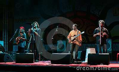 The performers of the popular Indian band called as Indian Ocean live in concert during a college festival held recently in the campus of one of the premiere B-schools located in Mumbai.