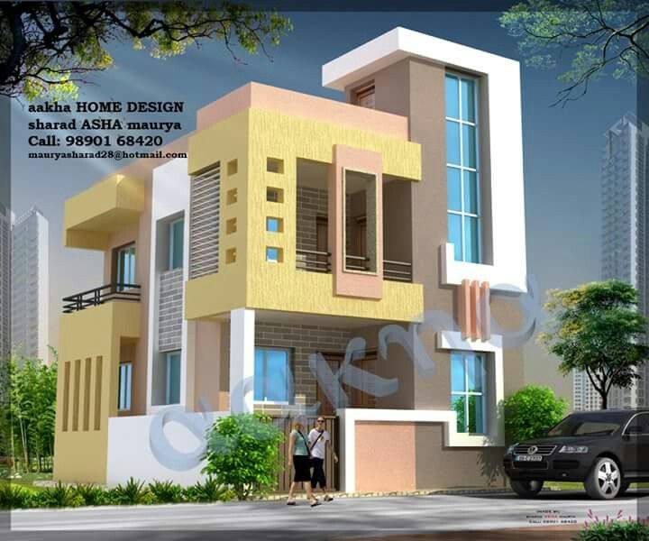 Modern House Front Elevation Designs: Pin By Sivarama Krishna On Building Photos
