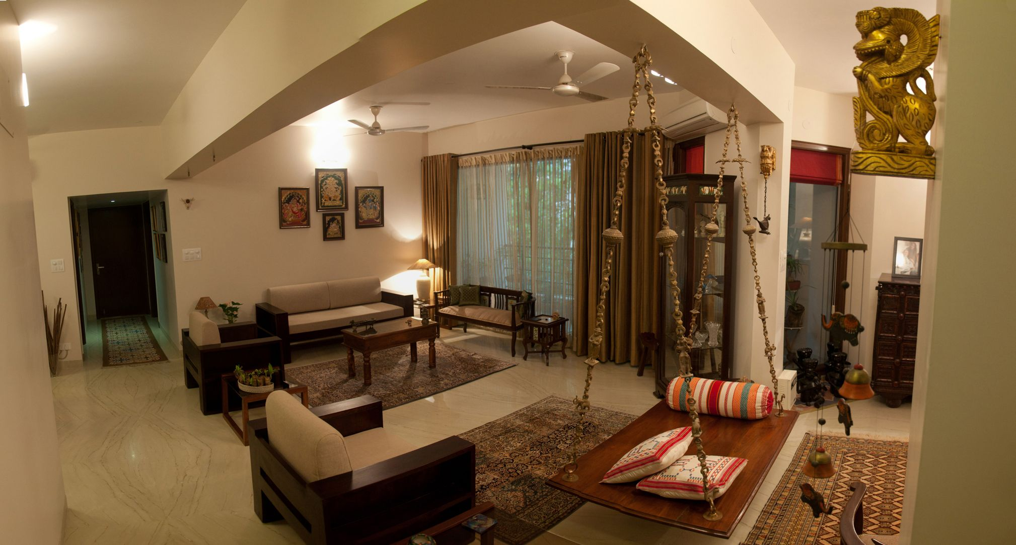 Interior design for an apartment in Delhi. We worked on all ...