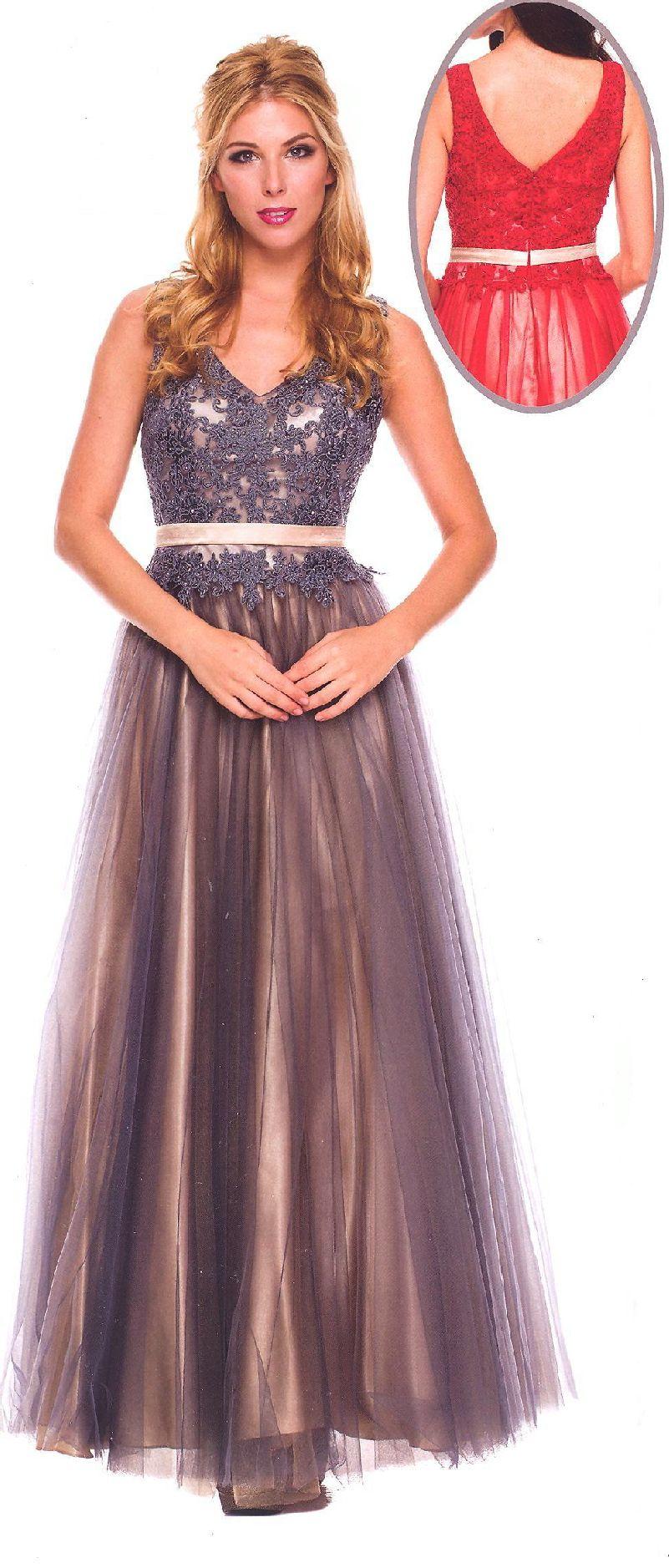 Evening dresses formal wear dressesucbrueucbruedouble v neckline lace