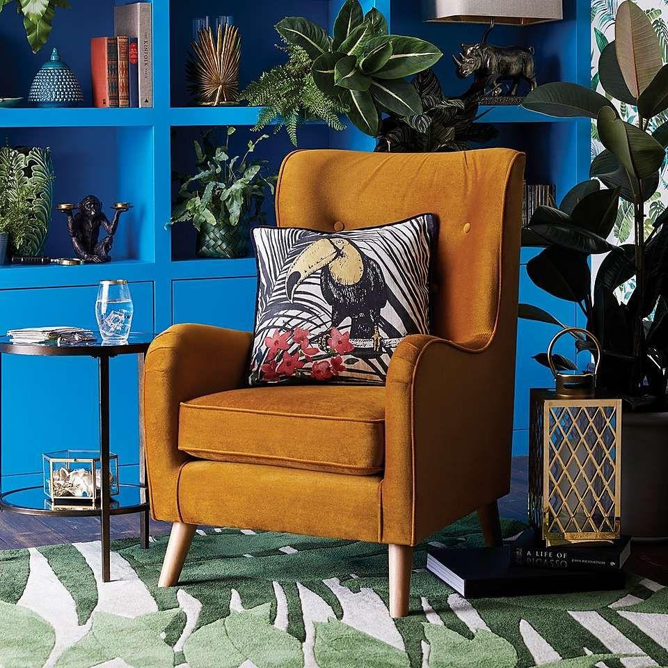 Fransen Ochre Chair Dunelm Living Room Decor Home Decor