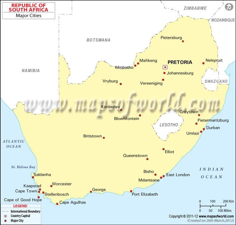 South Africa Major Cities Map.Cities In South Africa Store Mapsofworld South Africa
