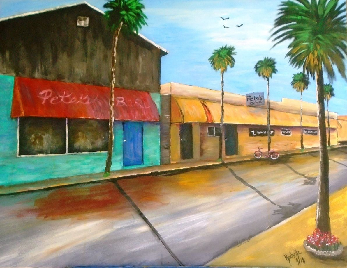Pete's Bar A Neptune Beach Landmark Original Painting by