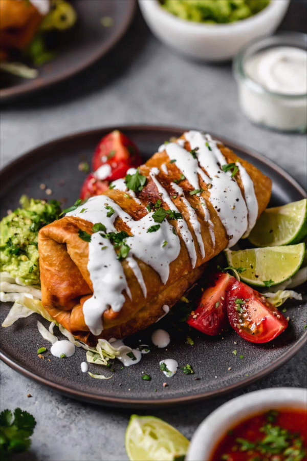 CHICKEN CHIMICHANGAS (Fried or Baked) #easymexicanfoodrecipes
