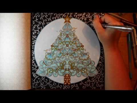johanna basfords christmas coloring a christmas tree youtube