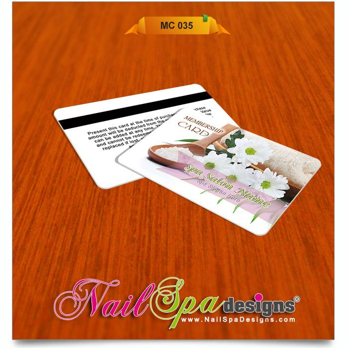 Membership Card template for Nail Salon Visit wwwNailSpaDesigns - membership cards design