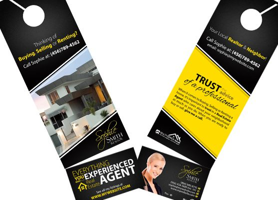 Real Estate Door Hanger Rip Cards Template 20 Door Hanger Rip Cards Real Estate Agent Flyer Door Hanger Printing Real Estate