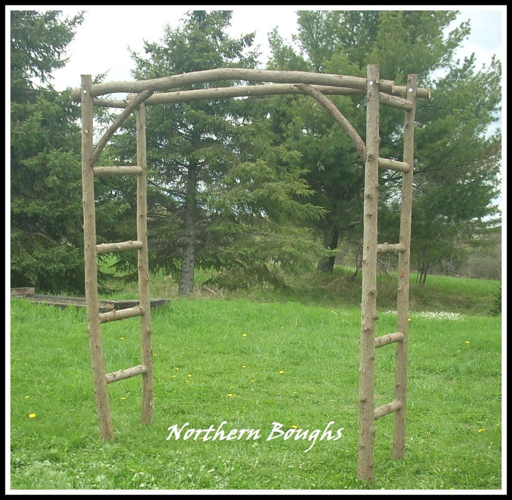 White Cedar Wedding Arch Kit Large Rustic Garden Trellis