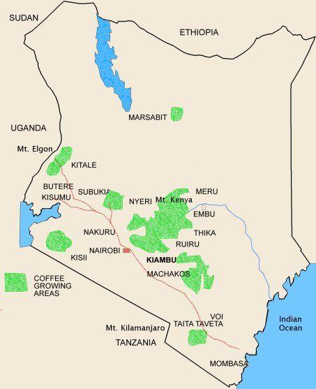 Pin By Quentin De Backer On Coffee Growing Regions Pinterest - Kenya rivers map