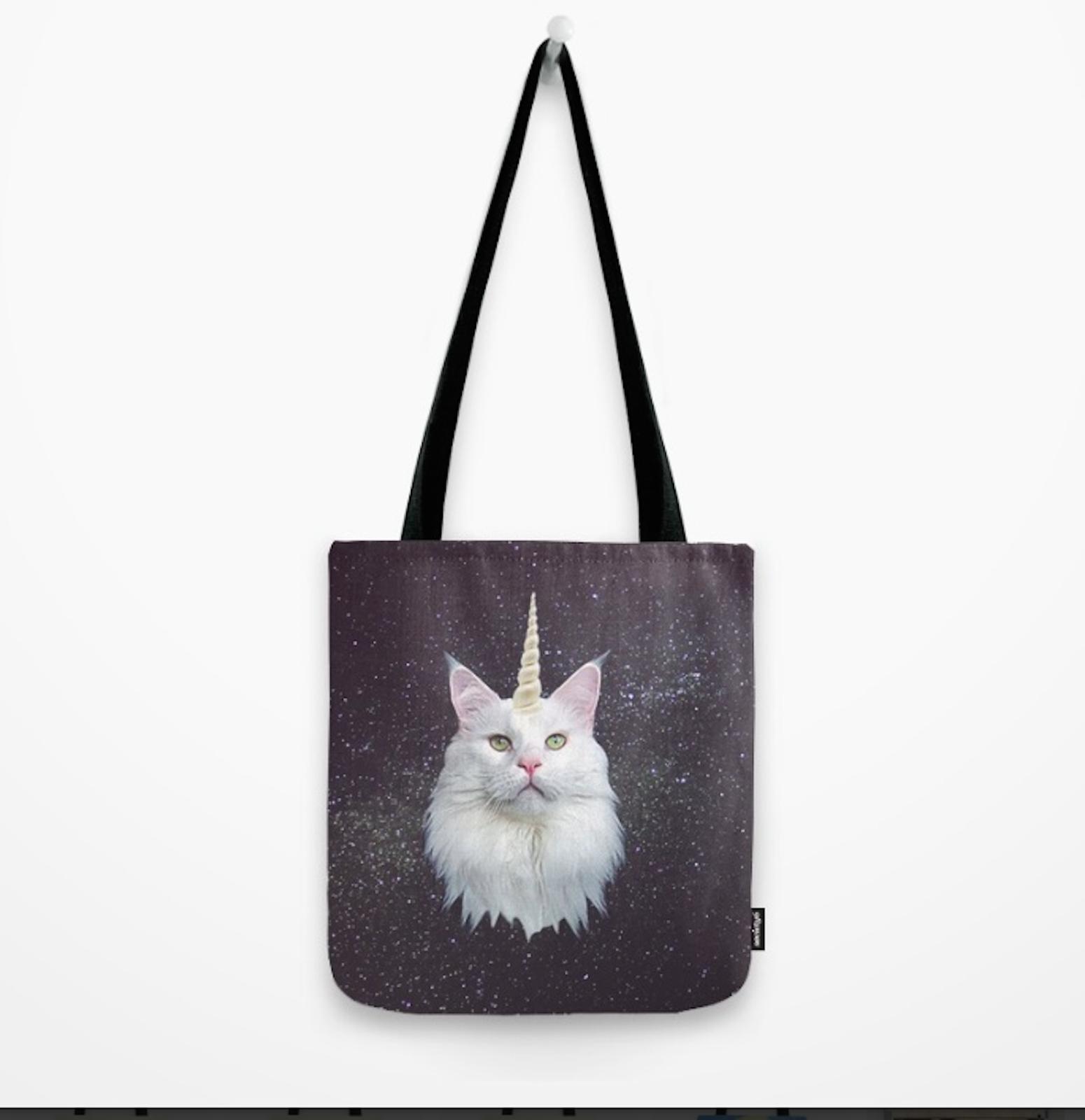 31.58$  Watch here - http://viogz.justgood.pw/vig/item.php?t=dqevgm22644 - Original Arts Shopping Bag CatLover Durable Hand sewn Poly Poplin Cat-icorn Tote 31.58$