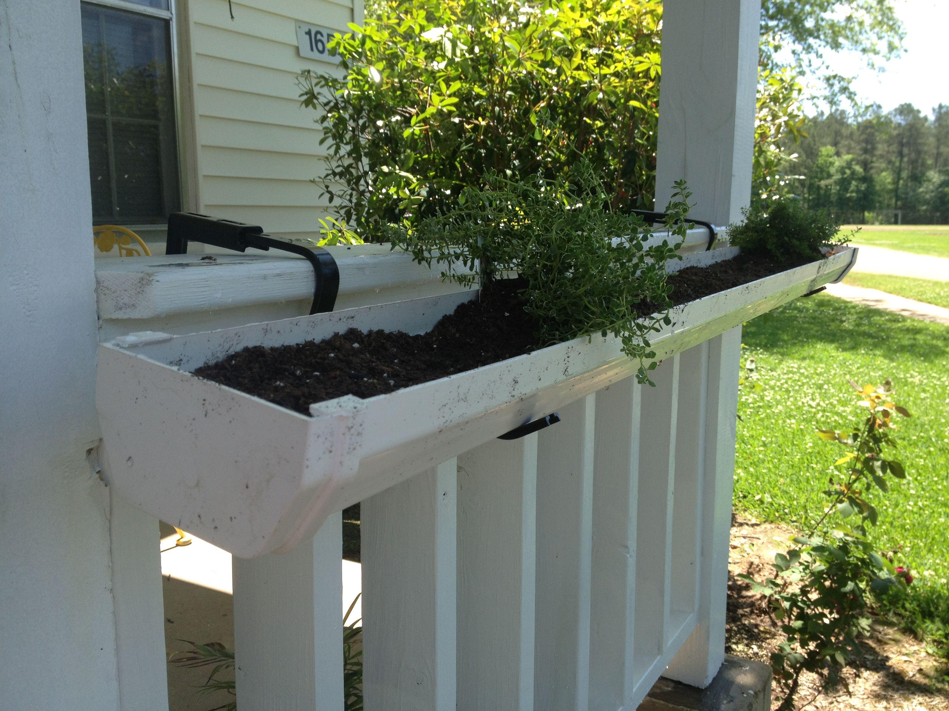Size Doesn T Matter Gutter Garden Fence Planters Rain Gutters