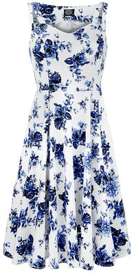 Photo of Blue Rosaceae Swing Dress