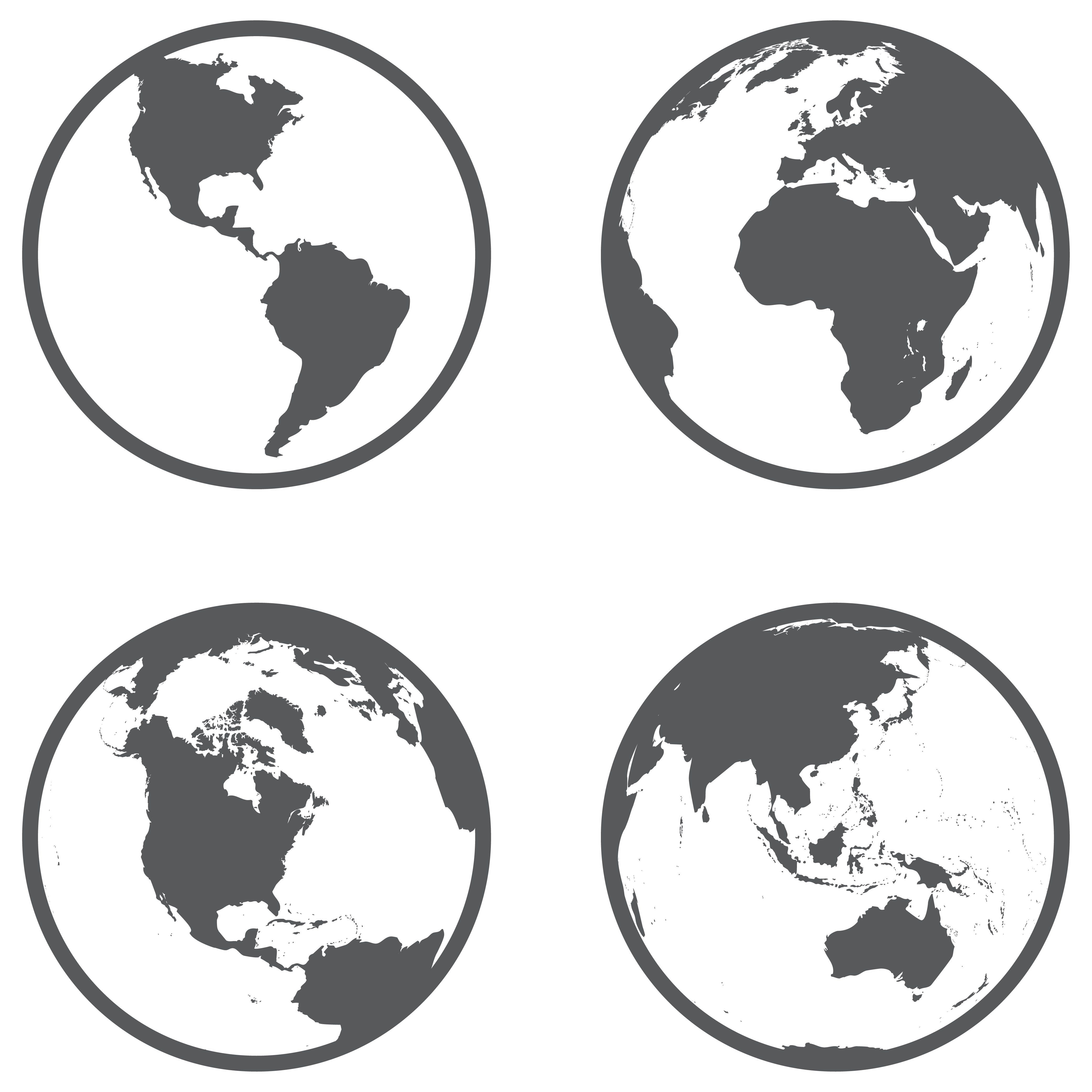 Globe Different Continents In A Flat Avec Images Idees De