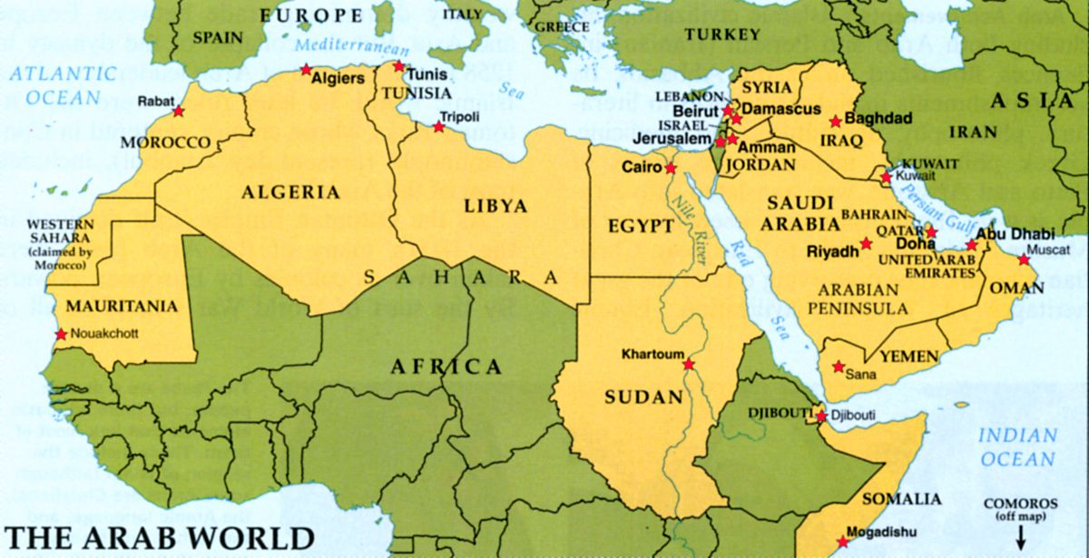 map of the arab world - Yahoo Image Search Results | PEACE and WAR ...