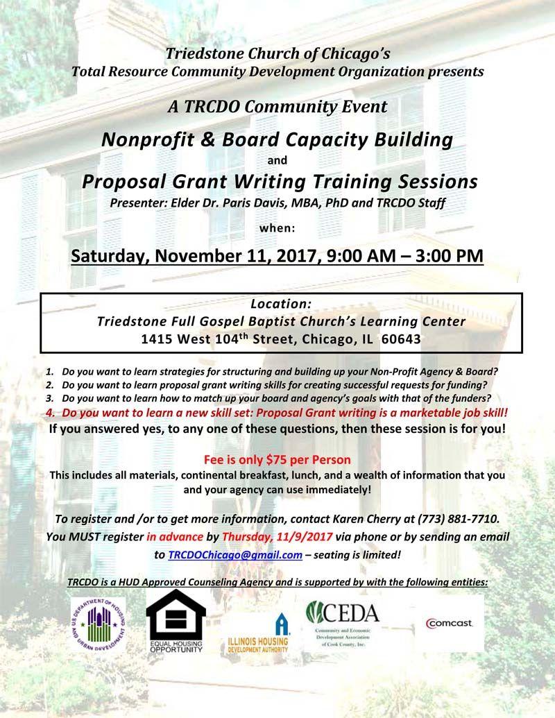 Nonprofit & Board Capacity Building and Proposal Grant Writing ...